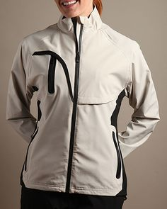 Stone Glen Echo Ladies Stretch Tech Rain Golf Jacket now at one of the top shops for ladies golf outerwear #lorisgolfshoppe