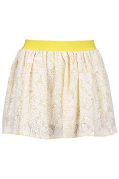 Color Block Lace Crochet Skirt #Romwe