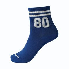 Women's Cotton blend ankle socks Winter Autumn Thick Creative socks Letter Stripes Print Breathable Stretchy Casual Socks