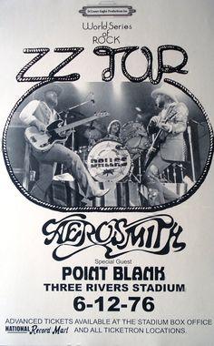 ZZ Top with Aerosmith & Point Blank at 3 Rivers by Innerwallz, $15.00