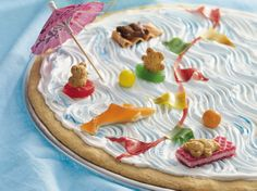 Waves-of-Fun Cookie Cake