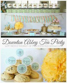 Downton Abbey Tea Party -thecraftedsparrow.com