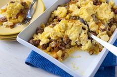 Breakfast Polenta Casserole
