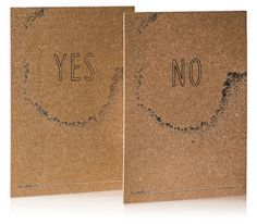 Reverence Collection / Kraft Reply Cards / Silver Foil Stamp / Yes and No