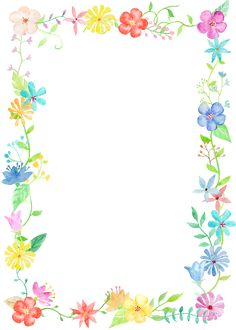 0℃素材45 Frame Border Design, Boarder Designs, Page Borders Design, Flower Background Wallpaper, Flower Backgrounds, Paper Background, Free Printable Stationery, Printable Labels, Boarders And Frames