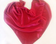 Deep Red scarf, Gift for coworker Wine Red Neckerchief scarf Holiday Gift for mother burgundy Satin scarf Triangle Satin Scarves Chemo scarf by blingscarves. Explore more products on http://blingscarves.etsy.com