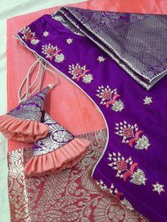 Cutwork Blouse Designs, Kids Blouse Designs, Hand Work Blouse Design, Pattu Saree Blouse Designs, Simple Blouse Designs, Stylish Blouse Design, Designs For Dresses, Blouse Neck Designs, Hand Designs