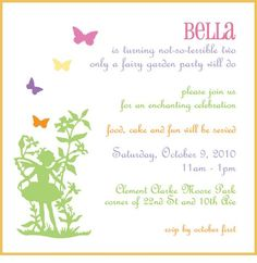Fairy garden party birthday invitation fairy birthday party invitations with a subtle rainbow touch would love to see it pressed stopboris Images