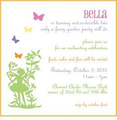 Fairy birthday party invitations juvecenitdelacabrera fairy birthday party invitations stopboris Choice Image