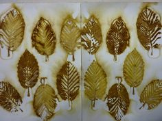 An encyclopedia of plant leaves and their color prints done as ecoprinting on paper, but should be similar on other fiber