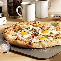 Eggs and Bacon Breakfast Pizza | Summer Of Bacon | MyRecipes.com