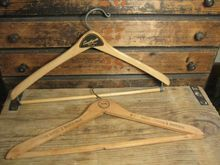 Pair of Vintage Wooden Clothes Hangers