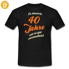 Geburtstag 40 Jahre Sprüche RAHMENLOS® Männer T-Shirt von Spreadshirt®, 3XL, Schwarz - Shirts zum 40 geburtstag (*Partner-Link)