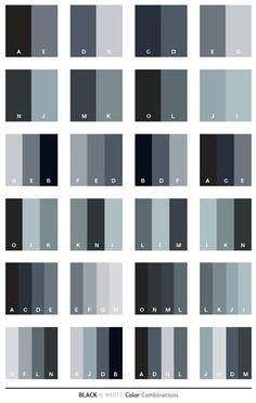 Black White Color Schemes Palette Colour Pallete Palettes