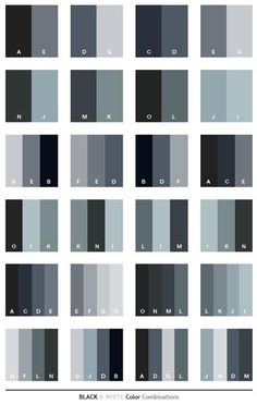 Black & White color schemes, color