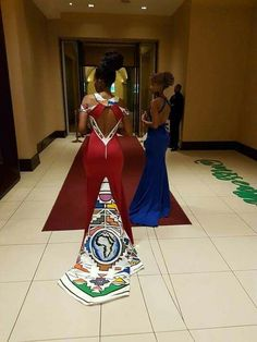 African Prom Dresses, Latest African Fashion Dresses, African Dress, Zulu Traditional Wedding Dresses, South African Traditional Dresses, African Wedding Attire, Making Ideas, African Prints, Luxury Wedding
