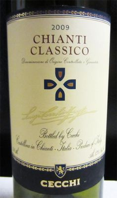 2009 Cecchi Chianti Classico - is well structured with flavors of cherry and oak. Great when paired with tomato-based foods. Terrific buy at $12.