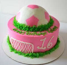 Pink Soccer cake
