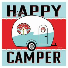 Thirstystone Happy Camper Blue Coaster Set of 4 is part of New Savings On Thirstystone Happy Camper Blue Coaster Set Of Occasions Coasters by Thirstystone are a beautiful way to protect your furnit - Vintage Trailers For Sale, Vintage Travel Trailers, Vintage Campers, Vintage Rv, Vintage Caravans, Camper Interior, Diy Camper, Camper Ideas, Camping Life