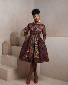 See beautiful African print summer dresses by BISI Designs 2019 look book. Meet the African print statement dresses and skirts for summer African Fashion Ankara, African Inspired Fashion, African Print Dresses, African Print Fashion, Africa Fashion, African Dress, African Prints, African Clothes, Trendy Ankara Styles