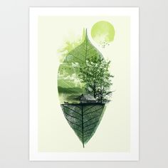 Live in Nature Art Print by Dzeri29 | Society6