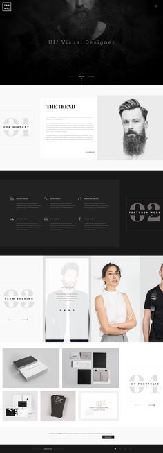 Trend HomePage by Nano: Modern Web Design, Web Ui Design, Web Design Trends, Flat Design, Interface Web, Interface Design, Web Layout, Layout Design, Design Responsive