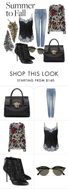 """""""Fall"""" by simona-georgescu ❤ liked on Polyvore featuring Versace, Yves Saint Laurent, Dolce&Gabbana, Givenchy, Ray-Ban and Paperself"""