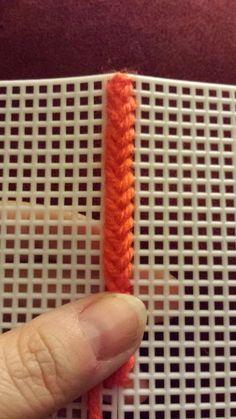 CraftySasha: Braided Cross Stitch Variation for Plastic Canvas Tutorial