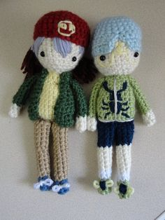 Rex and Weevil Amigurumi Dolls (Yu-gi-oh) by Sylemn on DeviantArt