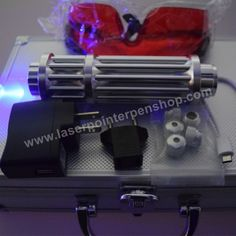 DC Laser Pointer 1000mW Strong Burning Laser Pointer with DC Adapter Power Supply