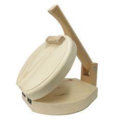 Round Wood Tortilla Press Tortilladora de Madera Redonda / Burrito Size $39.95