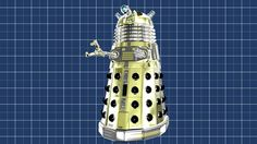 Very ostentatious Type 6 Hover Dalek!  Original model created by Mechmaster (mechmaster@cg-lair.co.uk).  OBJ conversion to LWO and surfacing/texturing by me.  Graph Paper 3D model created by me.