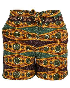 African prints shorts by CoCoCremeCouturier on Etsy
