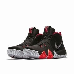 0964eea38719 Nike Kyrie 4 For the Ages Mens Basketball Shoes 9.5 Black Dark Grey Crimson   Nike