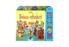 H= Eläinten orkesteri valmistautuu illan konserttiin: soittimia viritellään, sävelmiä harjoitellaan ja samalla taitetaan matkaa kohti konserttipaikkaa. Iloisen värikäs ääninappikirja tutustuttaa lapset musiikin maailmaan! 20€