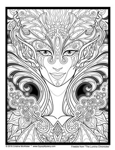 Cristina McAllister Currently Has Six Coloring Books Out And They Are Gorgeous She Is An Incredibly Talented Artists Some Of Her Even Have A