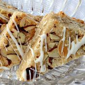 White Chocolate Drizzled Almond Bars Recipe at Cooking.com