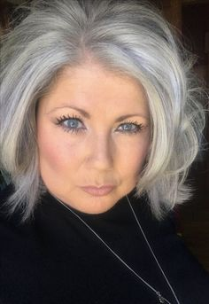 Transitions… almost there! My journey to gray @ 50 Transitions… almost there! My journey to gray @ 50 Grey Hair Over 50, Long Gray Hair, Blonde Grise, Silver Haired Beauties, Silver White Hair, Grey Hair Inspiration, Natural Hair Styles, Short Hair Styles, Hairstyles Over 50