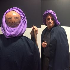 Incase you might be needing an epic Halloween costume. This guy has got it on lockdown. #professorquirrell #voldemort #diy #halloween