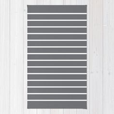 30 colours White and Grey Striped Area Rug 2x3 by ThingsThatSing