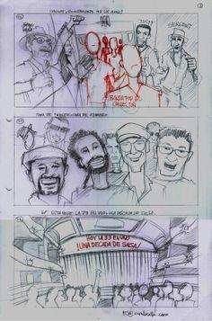 Página 7, boceto inicial