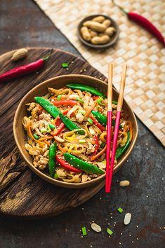 Dzień dobry, Chow Mein, Tempeh, Wok, Japchae, Chili, Ethnic Recipes, Chile, Chilis
