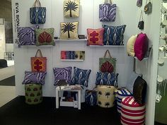 throw pillows made with african prints .....cool. EVA SONAIKE