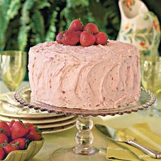 Triple-Decker Strawberry Cake - Luscious Layer Cakes - Southern Living