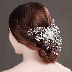 Ветер конец корейской невесты готовили вручную головной убор мода фотосессия белый жемчуг гребень вставляется гребень оптовой ювелирной F139