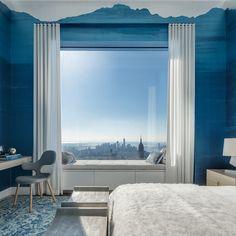 New York-based designer Kelly Behun has completed a half-floor penthouse at Rafael Vinoly's 432 Park Avenue.