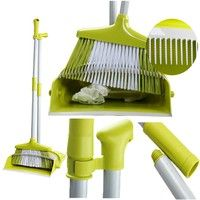 Wish | FBA Fast Delivery Innovative DustPan Dust Pan with Teeth to Clean the Brush Dustpan and Broom Set
