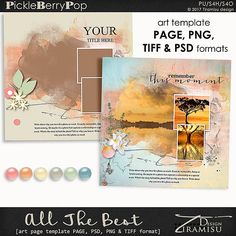 All The Best ~ art page template 2 by Tiramisu design