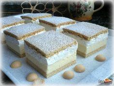 New Easy Cake : Simple recipe for cheese sticks Kremes Recipe, Cheese Sticks Recipe, Cookie Recipes, Dessert Recipes, Flan Cake, Waffle Cake, Traditional Cakes, Hungarian Recipes, Homemade Cakes