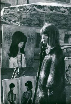 Francoise Hardy, 1960s beatnik style French singer. (please follow minkshmink on pinterest)